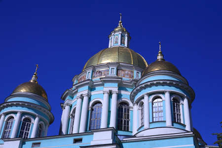 old elohovskiy cathedral in moscow at day photo