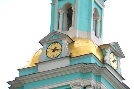 clock on chapel in moscow photo