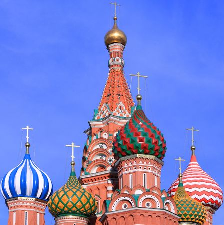 blessed Basil cathedral in moscow close up 版權商用圖片