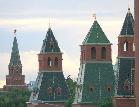old kremlin towers in moscow photo