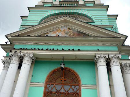 elohovskiy cathedral entrance at day  photo