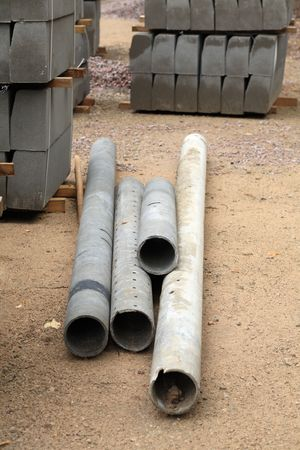 edge stone pack coupled and tubes at day Stock Photo - 3490582