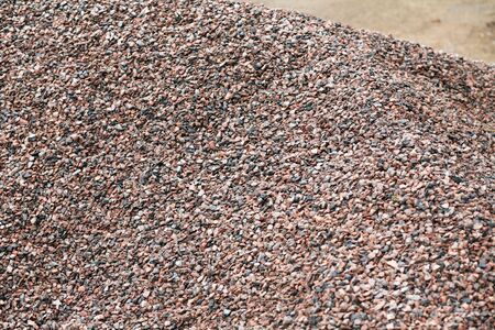 heap of gravel at dayli time photo