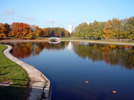 autumn in city park Stock Photo - 3652443