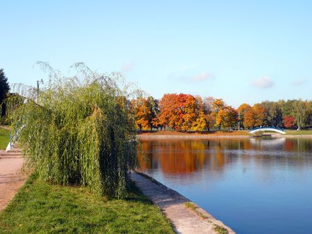 city park in gold fall at september Stock Photo - 3701446
