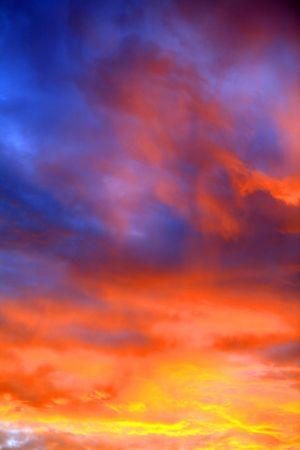 sunset sky at summer evening photo