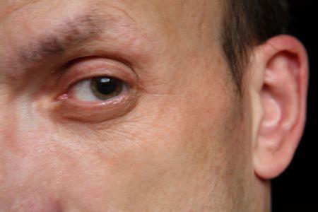 one eye of man close up photo