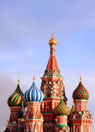 synod: blessed Basil cathedral in moscow Stock Photo
