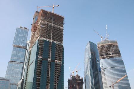 skyscraper develop on sky background photo