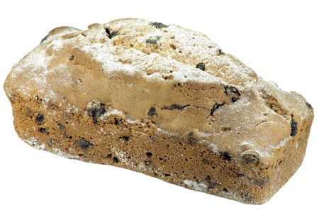 cake with raisin and sugar dust photo