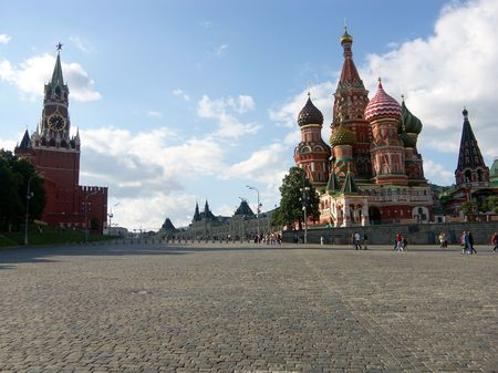 kremlin red square at day in Moscow photo