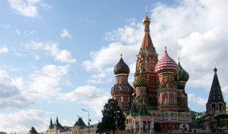 blessed Basil cathedral in moscow Stock Photo - 4243481