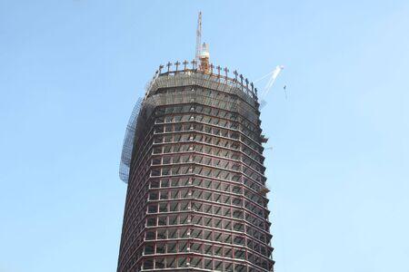 skyscraper develop on sky background Stock Photo - 4243518