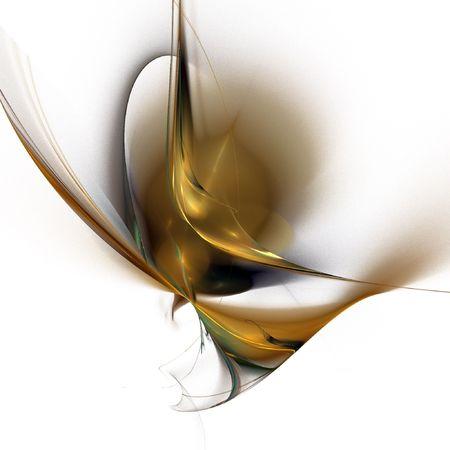 digital fractal on white background Stock Photo - 4289501