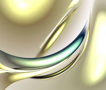 digitale fractaal op witte achtergrond Stockfoto