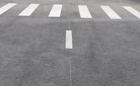 pedestrian crossing on road at day photo