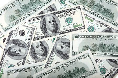 billetes de dólares americanos de cientos Foto de archivo - 5044440