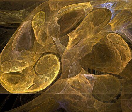 digital fractal on black background photo