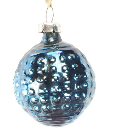 one christmas firtree toy ball isolated photo