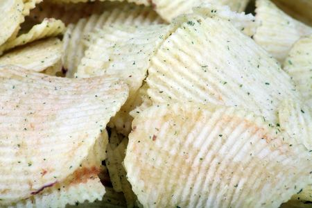 potato chips horizontal flat texture  photo