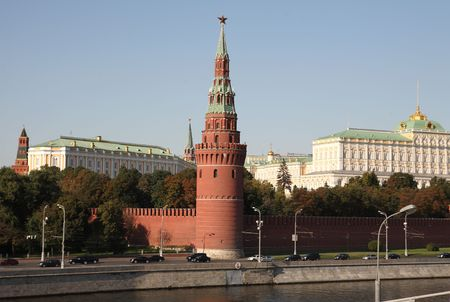 Kremlin tower on sky background in city center Stock Photo - 5960108