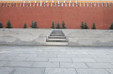 red square in Moscow city center photo
