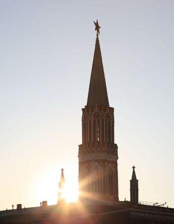 Kremlin tower on sky background in city center Stock Photo - 5960093