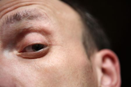one eye of man close up Stock Photo - 5971548
