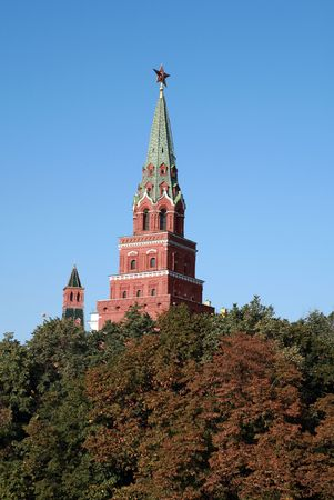 Kremlin tower on sky background in city center Stock Photo - 5980408