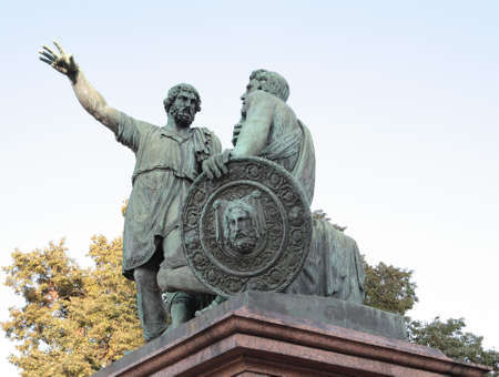 buckler: Red Square. Statue of Minin and Pozharsky, the liberators of Moscow.