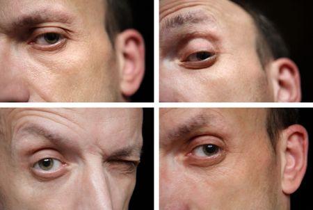 four eye of man close up Stock Photo - 5979321
