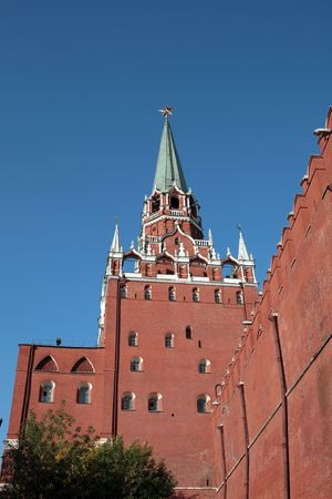 Kremlin tower on sky background in city center Stock Photo - 6016905