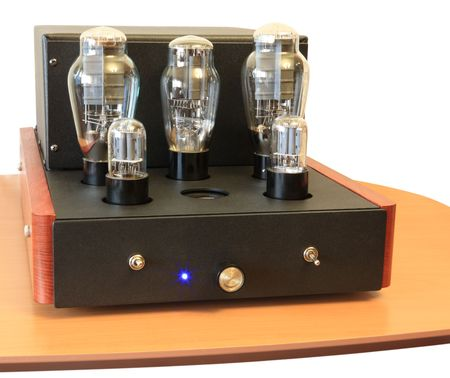 vacuum tube amplifier on 300B triodes photo