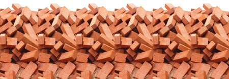 heap of red brick isolated photo