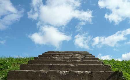 stairs to sky at day photo
