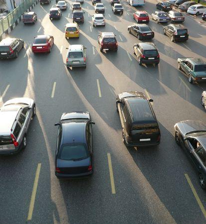 traffic on street repair at day 版權商用圖片 - 6992929