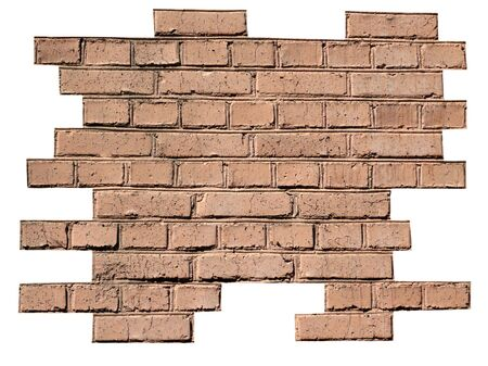 red brick wall background at day photo