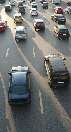traffic on street repair at day 版權商用圖片 - 7031660