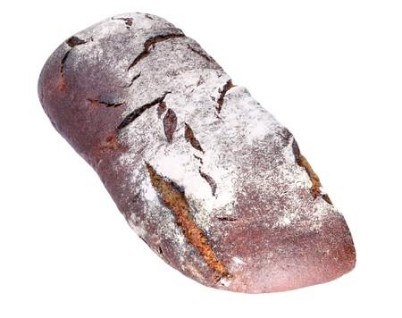 dark bread on white background Stock Photo - 7259347