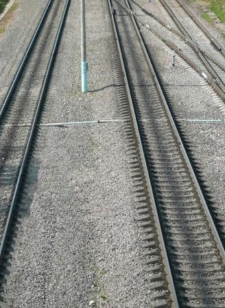 railing witn semaphore and railway switch Stock Photo - 7621607