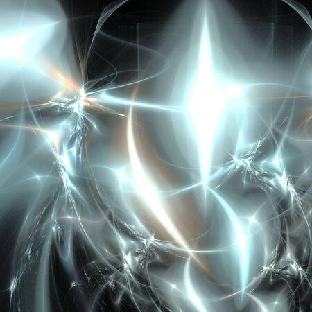 digital fractal on black background Stockfoto