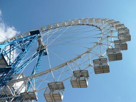 Ferris wheel at dry sunny day photo