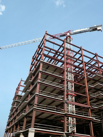 house develop at day with crane photo