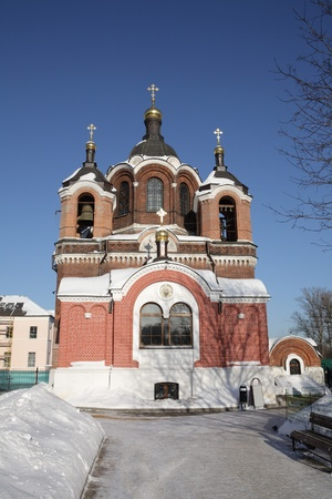 church in the winter day time photo