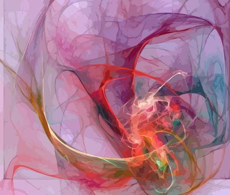 digitale fractal  Stock Illustratie