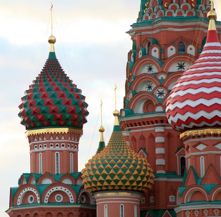 blessed Basil cathedral in moscow close up Stock Photo - 9168640