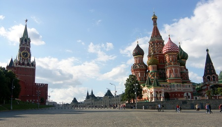 kremlin red square at day in Moscow Stock Photo - 9168619