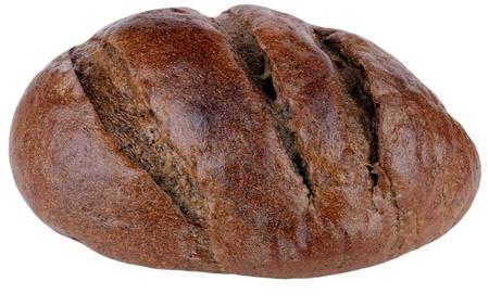 dark bread on white background photo