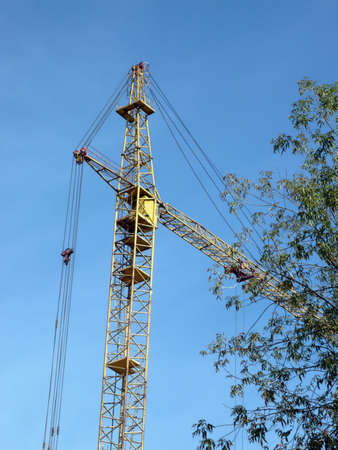 crane tower at dry day photo