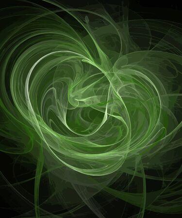 Vectorillustratie van digitale fractal Stock Illustratie